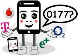 0177 Anbieter, Netz und Vorwahl