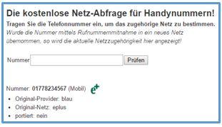 Netzabfrage Handynummer