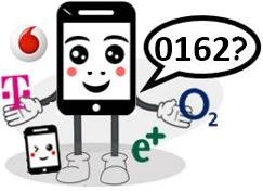 0162 Anbieter, Netz und Vorwahl