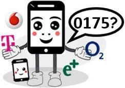 0175 Anbieter, Netz und Vorwahl
